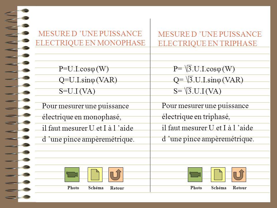 MESURE D 'UNE PUISSANCE ELECTRIQUE EN MONOPHASE