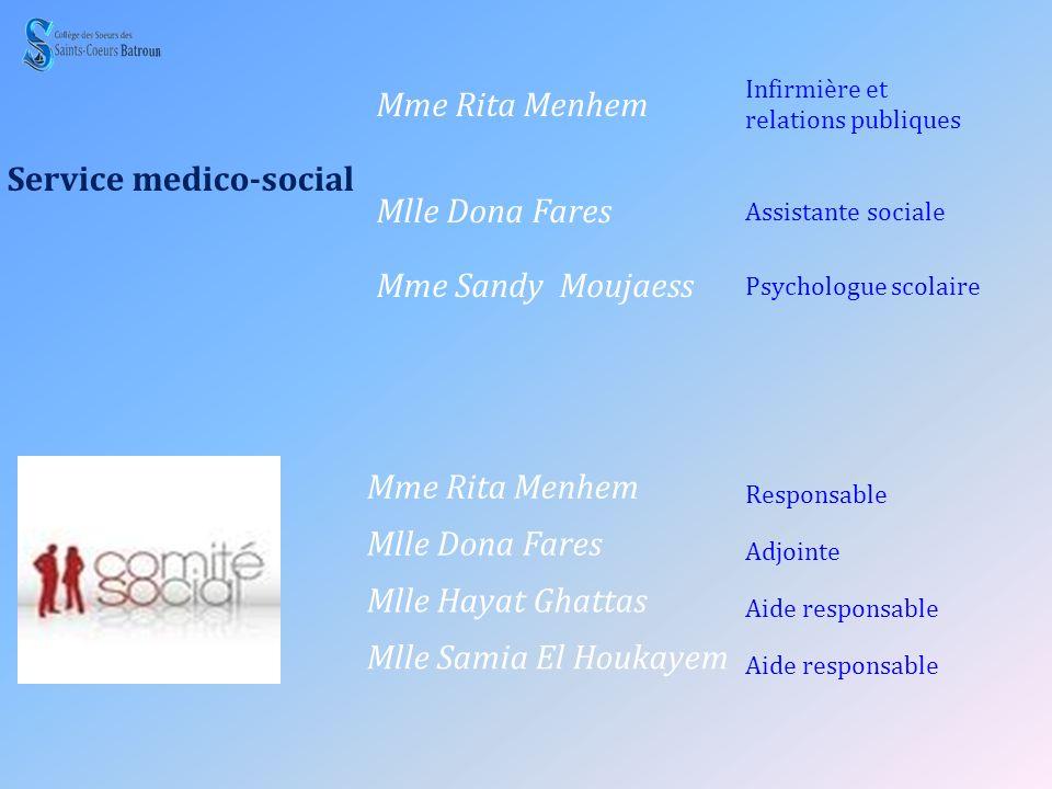 Service medico-social Mme Rita Menhem
