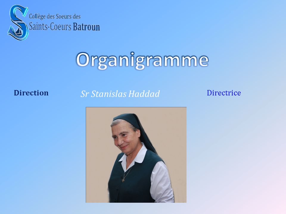 Organigramme Direction Sr Stanislas Haddad Directrice