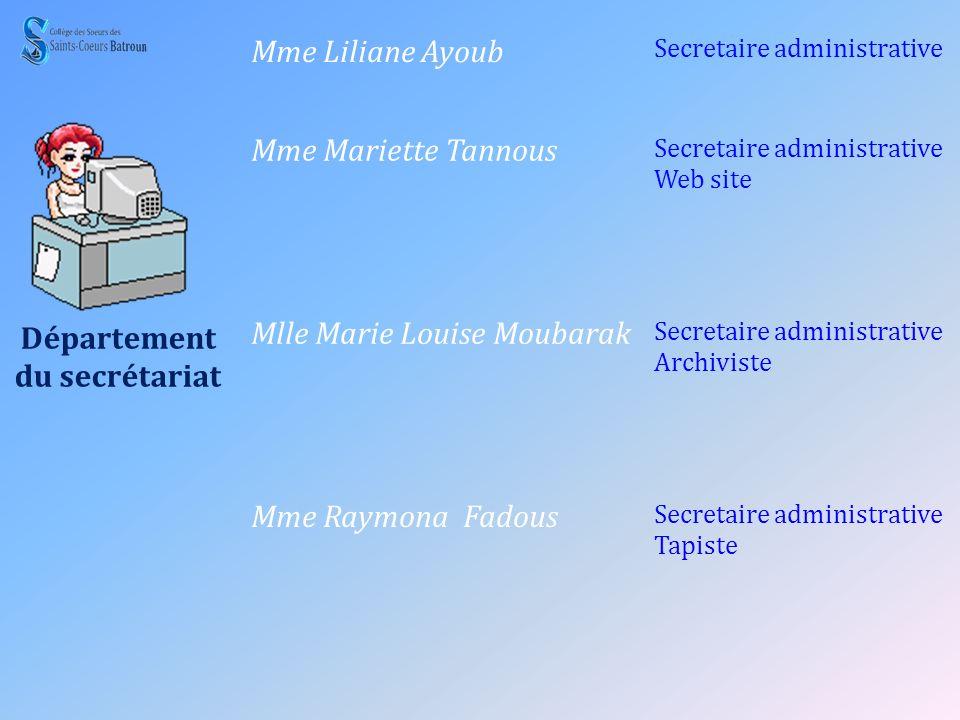 Département du secrétariat