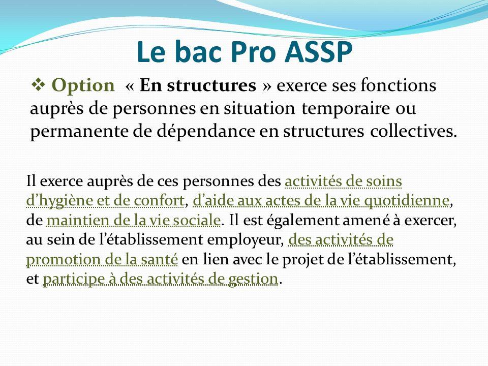 Le bac Pro ASSP