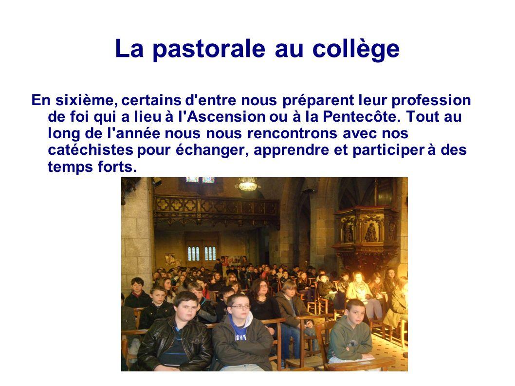 La pastorale au collège