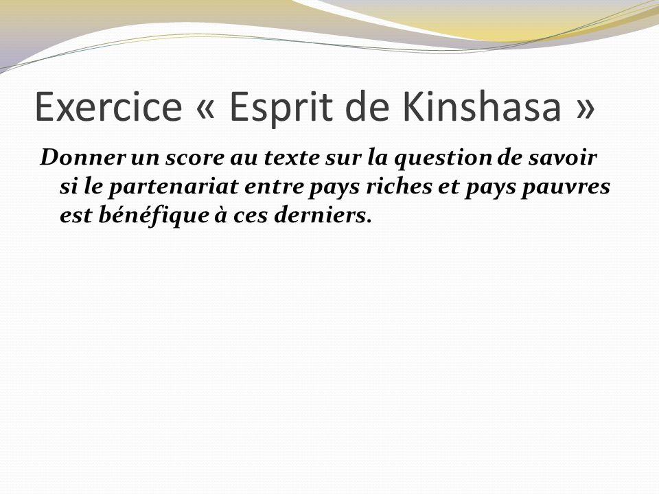 Exercice « Esprit de Kinshasa »