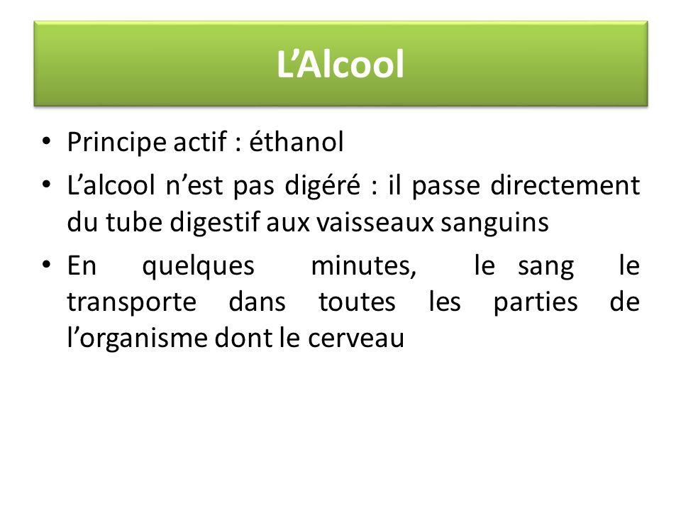 L'Alcool Principe actif : éthanol