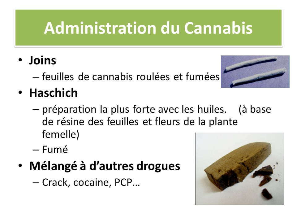 Administration du Cannabis