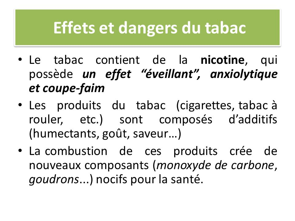 Effets et dangers du tabac