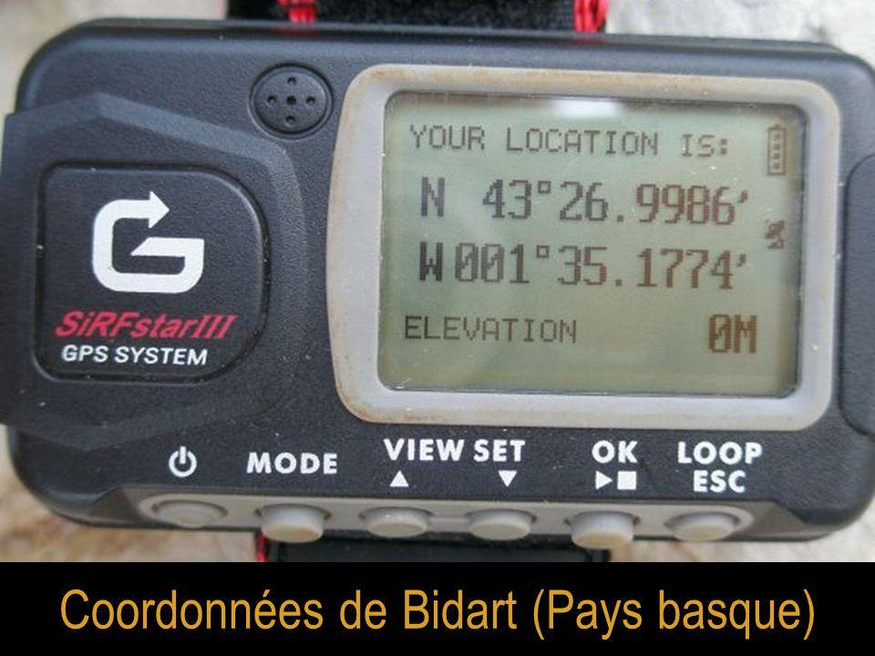 Coordonnées de Bidart (Pays basque)