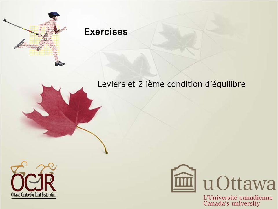 Leviers et 2 ième condition d'équilibre