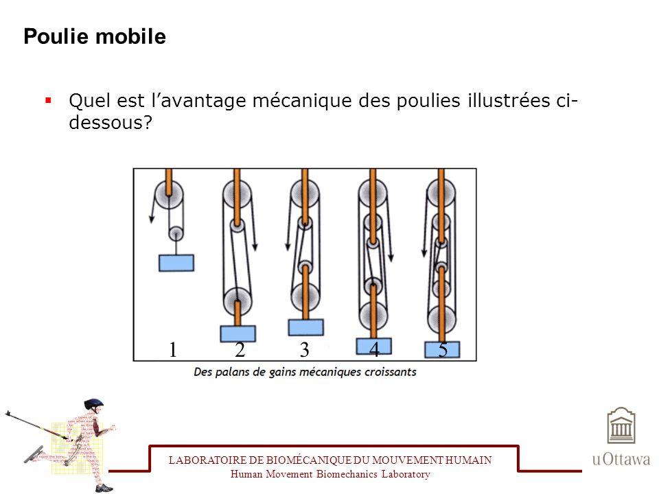 Poulie mobile Quel est l'avantage mécanique des poulies illustrées ci-dessous 1. 2. 3. 4. 5.