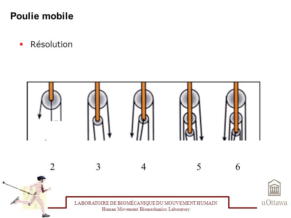 Poulie mobile 2 3 4 5 6 Résolution