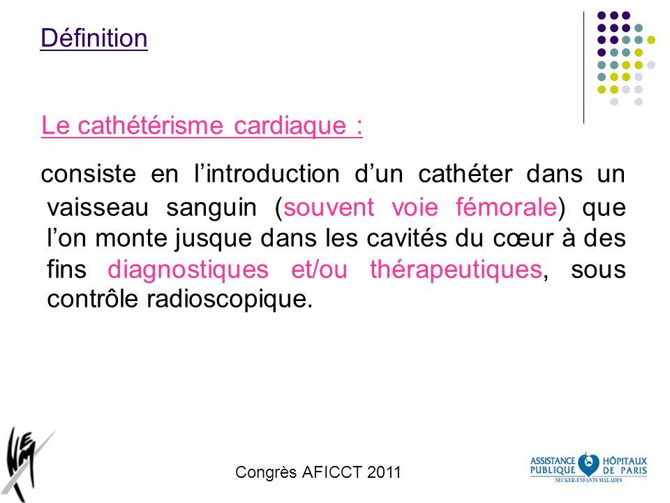 Le cathétérisme cardiaque :