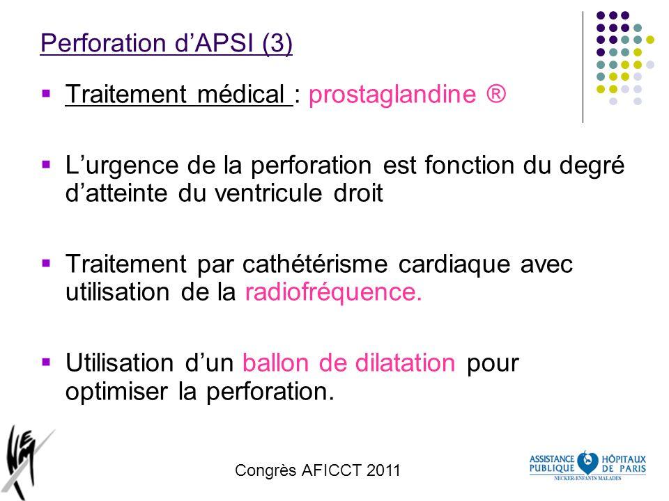Traitement médical : prostaglandine ®