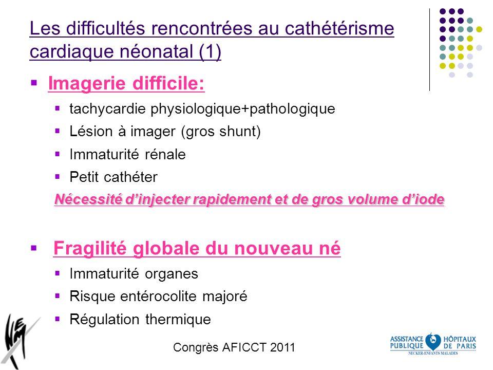 Les difficultés rencontrées au cathétérisme cardiaque néonatal (1)
