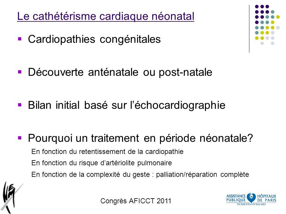 Le cathétérisme cardiaque néonatal