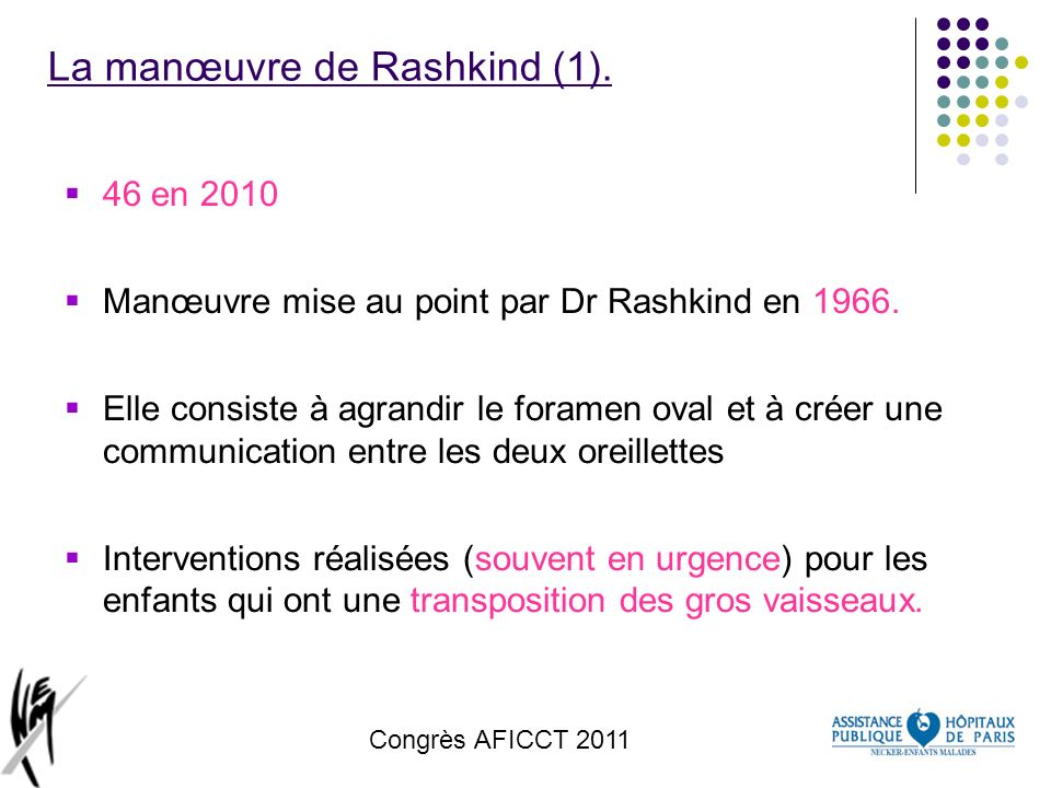 La manœuvre de Rashkind (1).