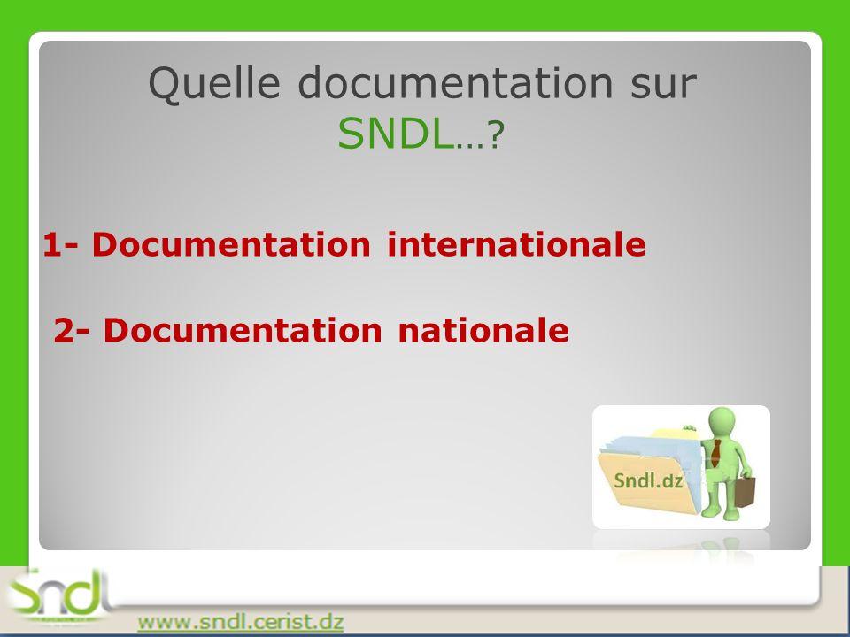 Quelle documentation sur SNDL…
