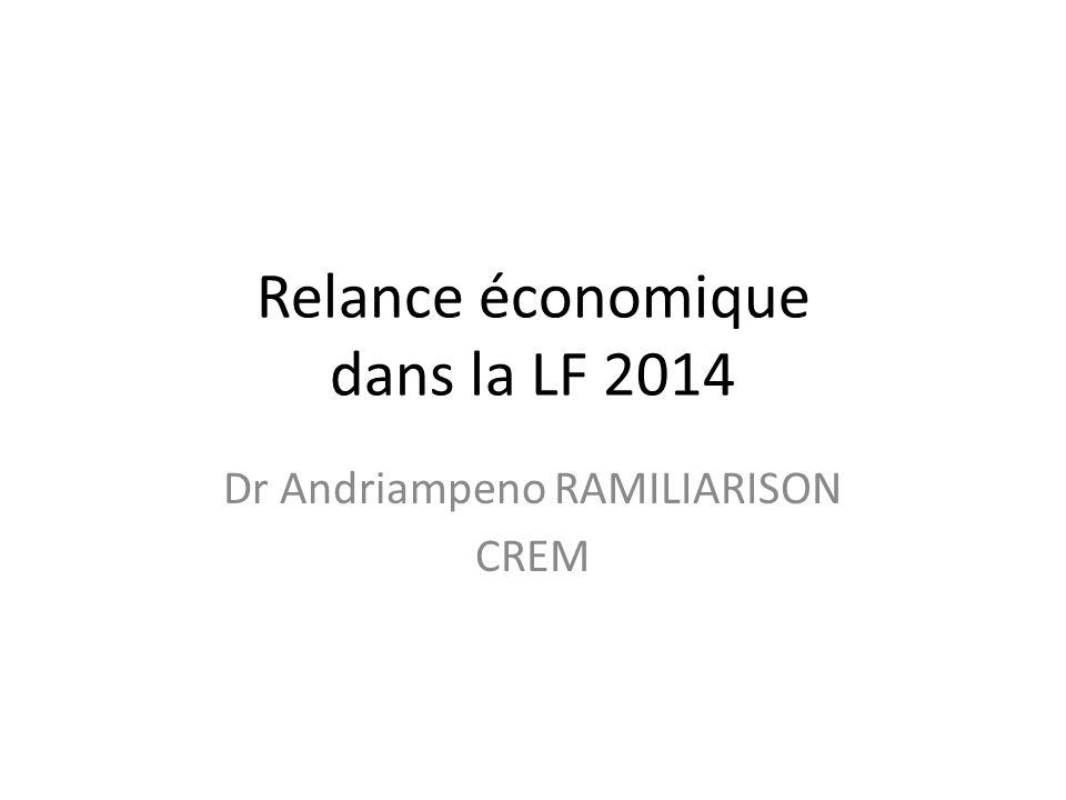 Relance économique dans la LF 2014