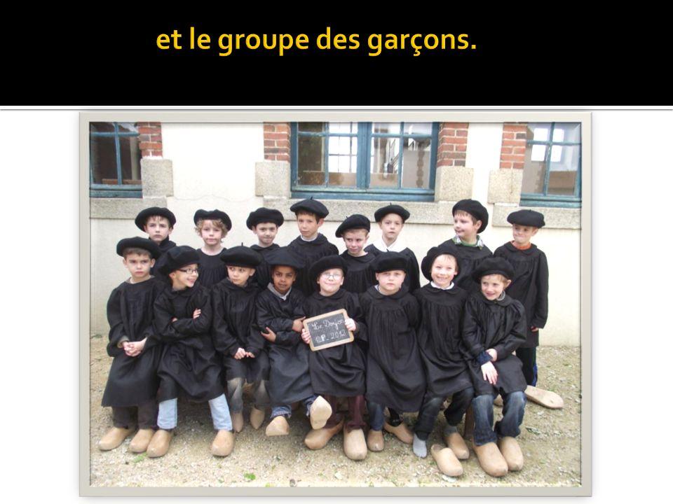 et le groupe des garçons.