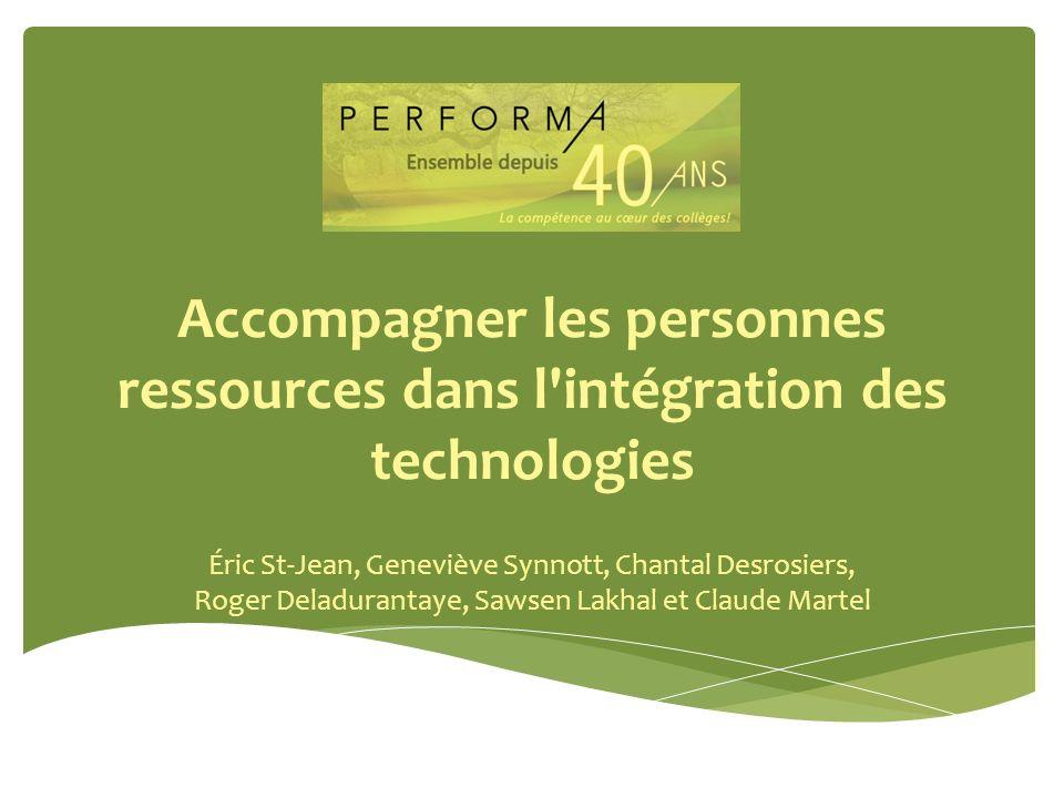 Accompagner les personnes ressources dans l intégration des technologies