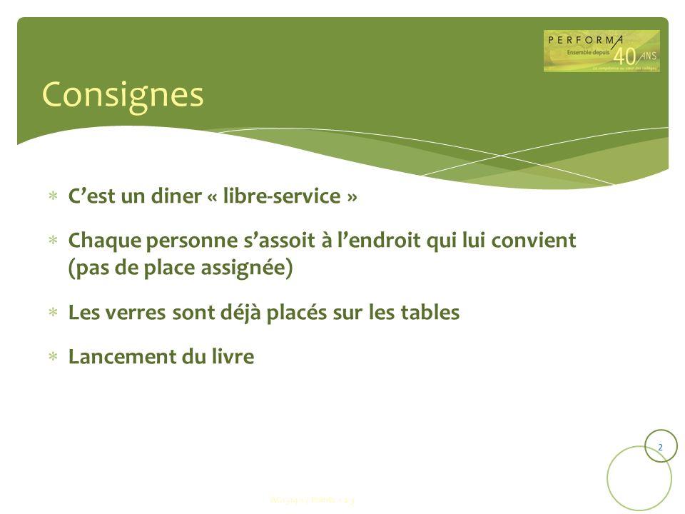 Consignes C'est un diner « libre-service »