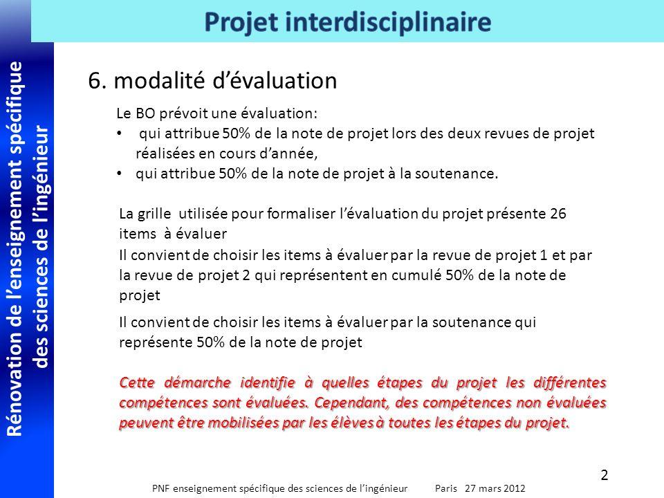 6. modalité d'évaluation