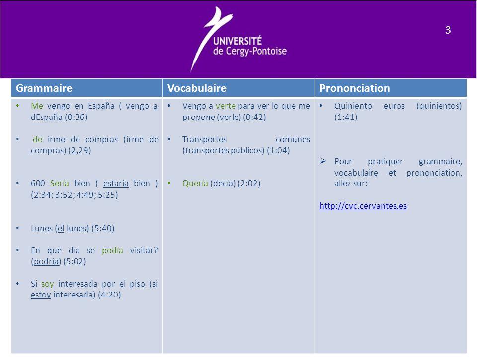 3 Grammaire Vocabulaire Prononciation