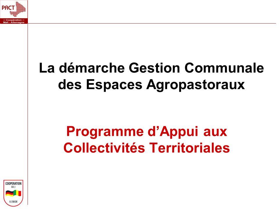 La démarche Gestion Communale des Espaces Agropastoraux