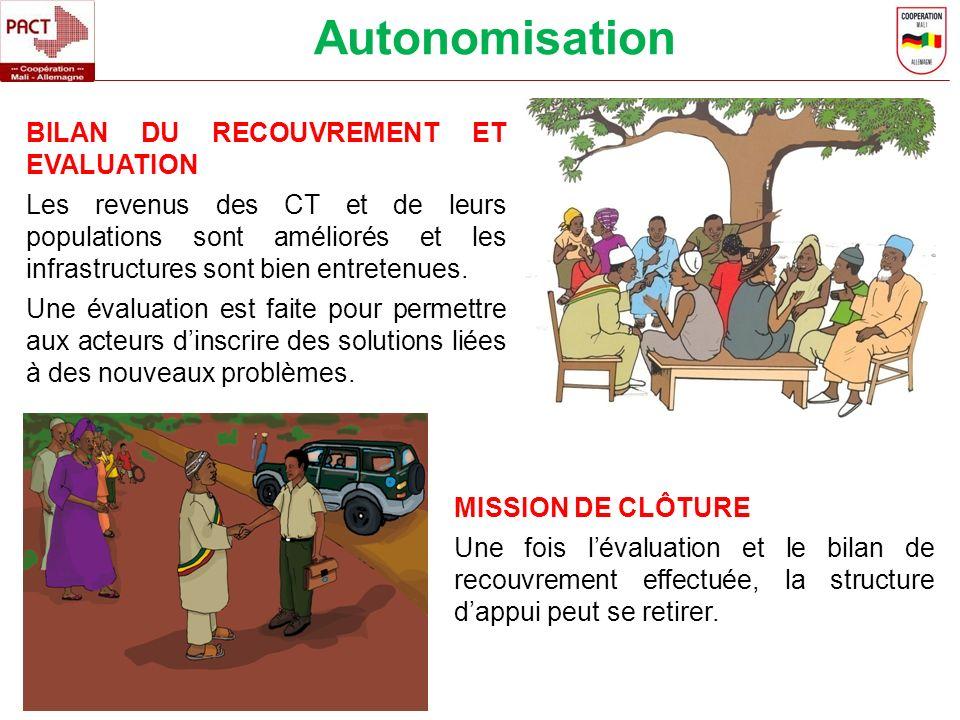Autonomisation BILAN DU RECOUVREMENT ET EVALUATION