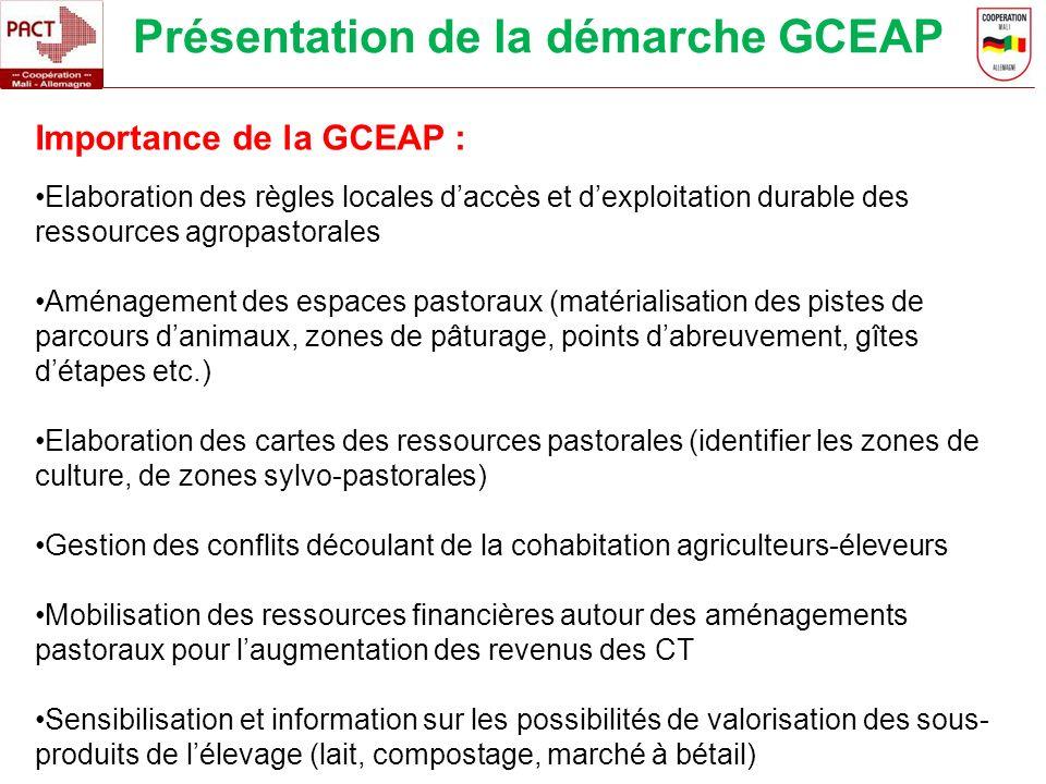 Présentation de la démarche GCEAP