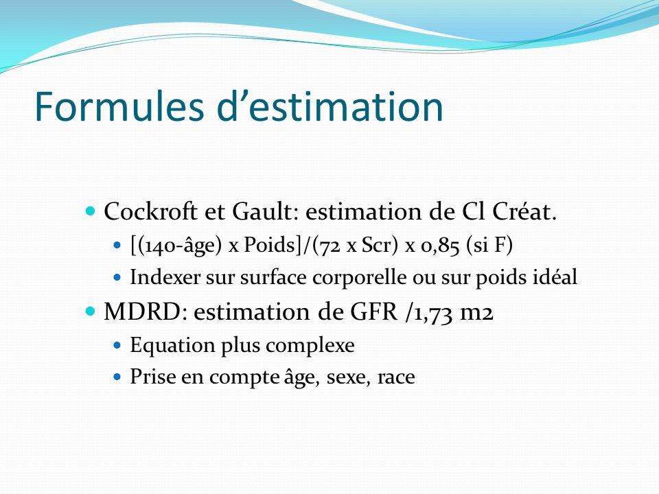 Formules d'estimation