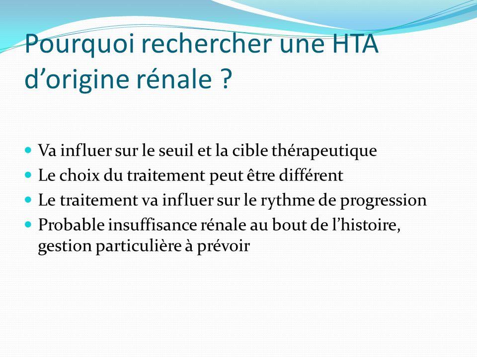 Pourquoi rechercher une HTA d'origine rénale