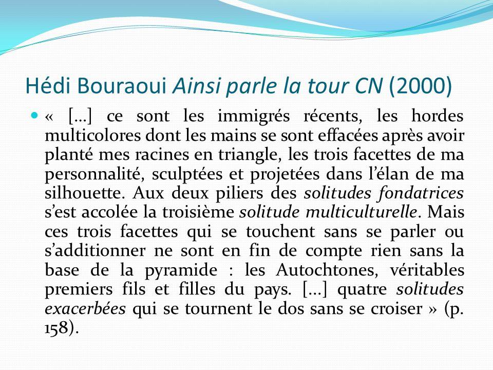 Hédi Bouraoui Ainsi parle la tour CN (2000)