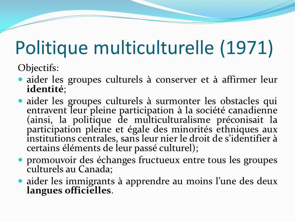 Politique multiculturelle (1971)