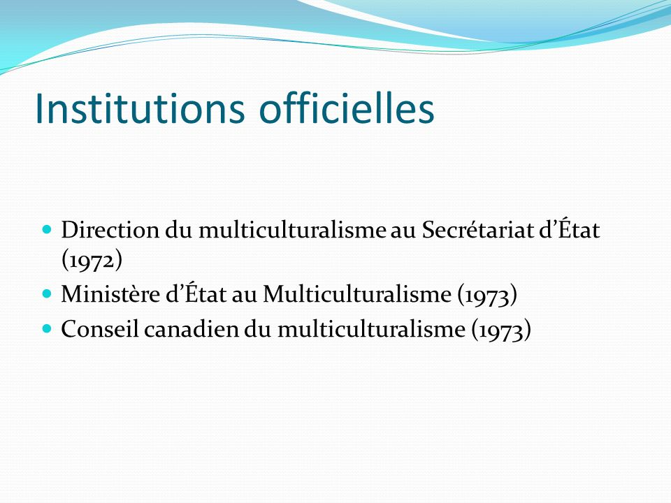 Institutions officielles