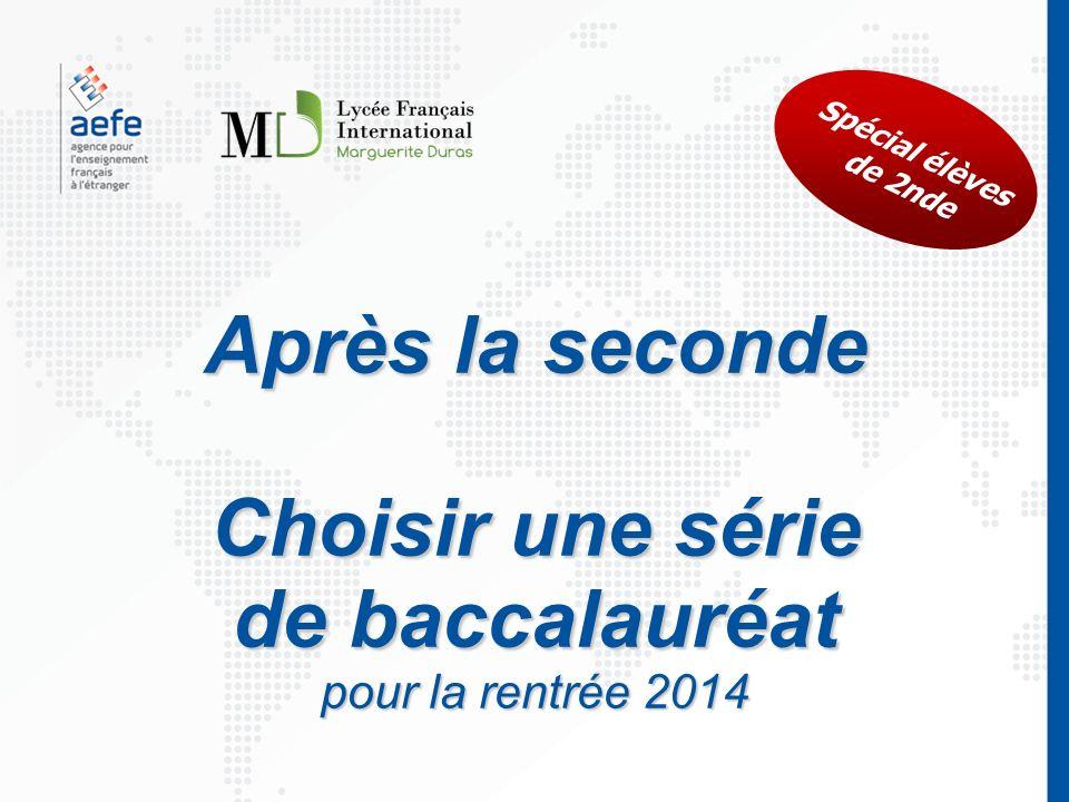 Choisir une série de baccalauréat pour la rentrée 2014