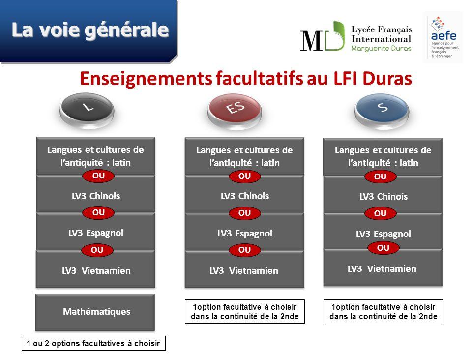 Enseignements facultatifs au LFI Duras