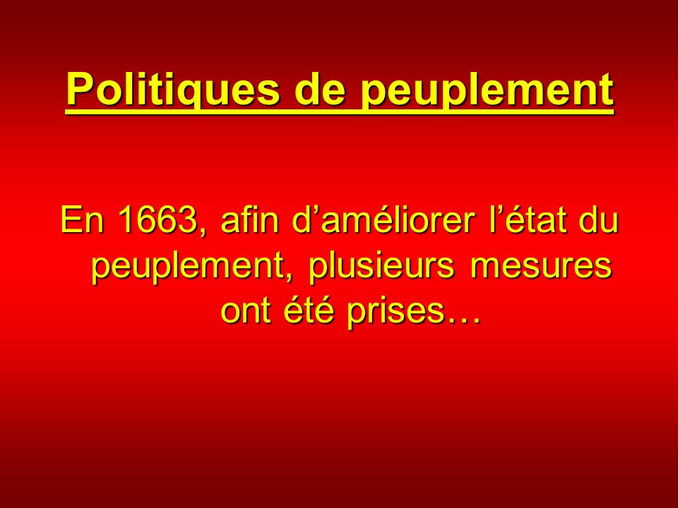 Politiques de peuplement