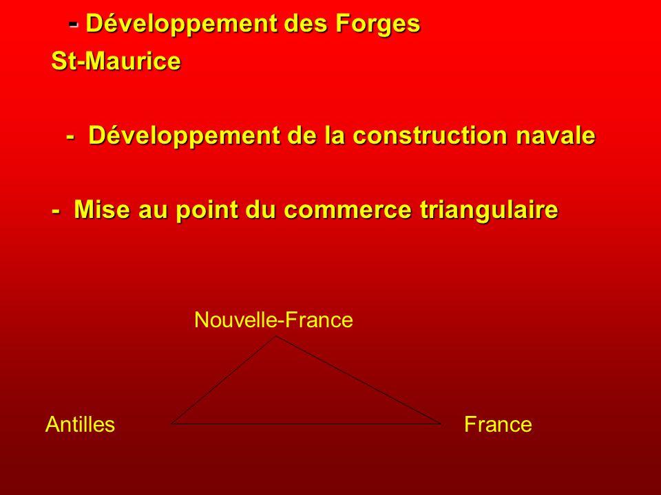 - Développement des Forges