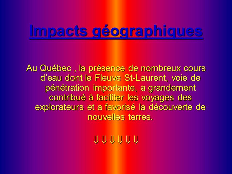 Impacts géographiques