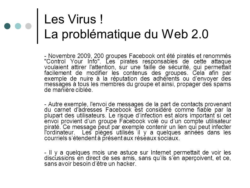 Les Virus ! La problématique du Web 2.0