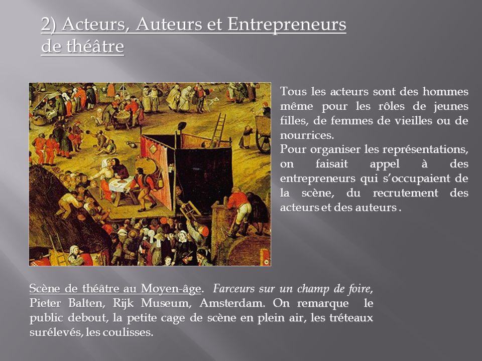 2) Acteurs, Auteurs et Entrepreneurs de théâtre