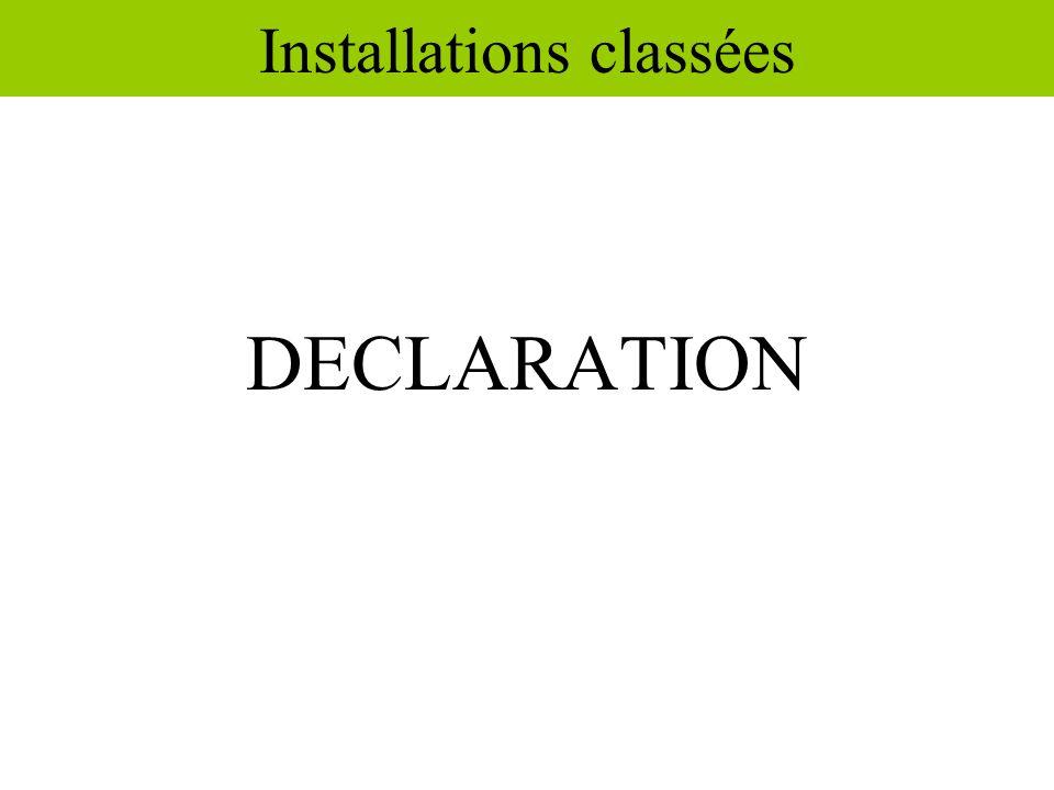 Installations classées