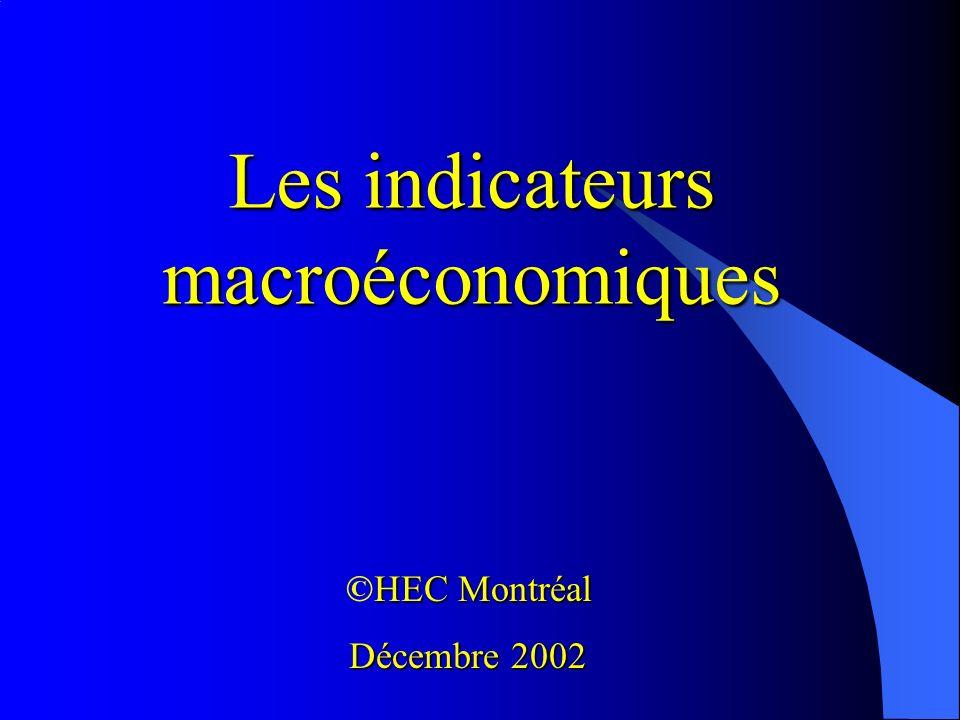 Les indicateurs macroéconomiques