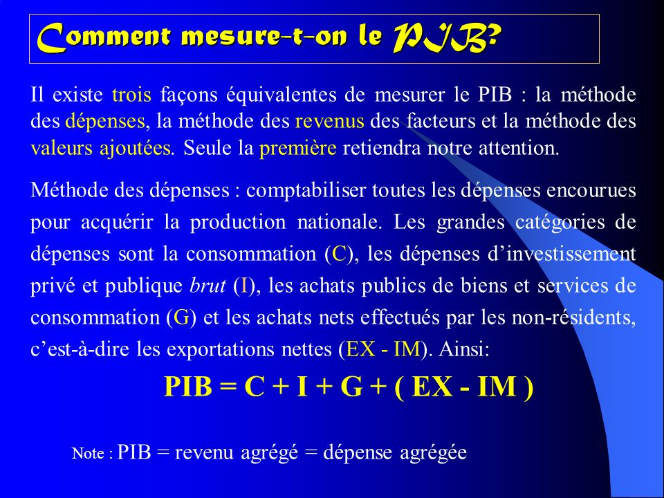 Comment mesure-t-on le PIB