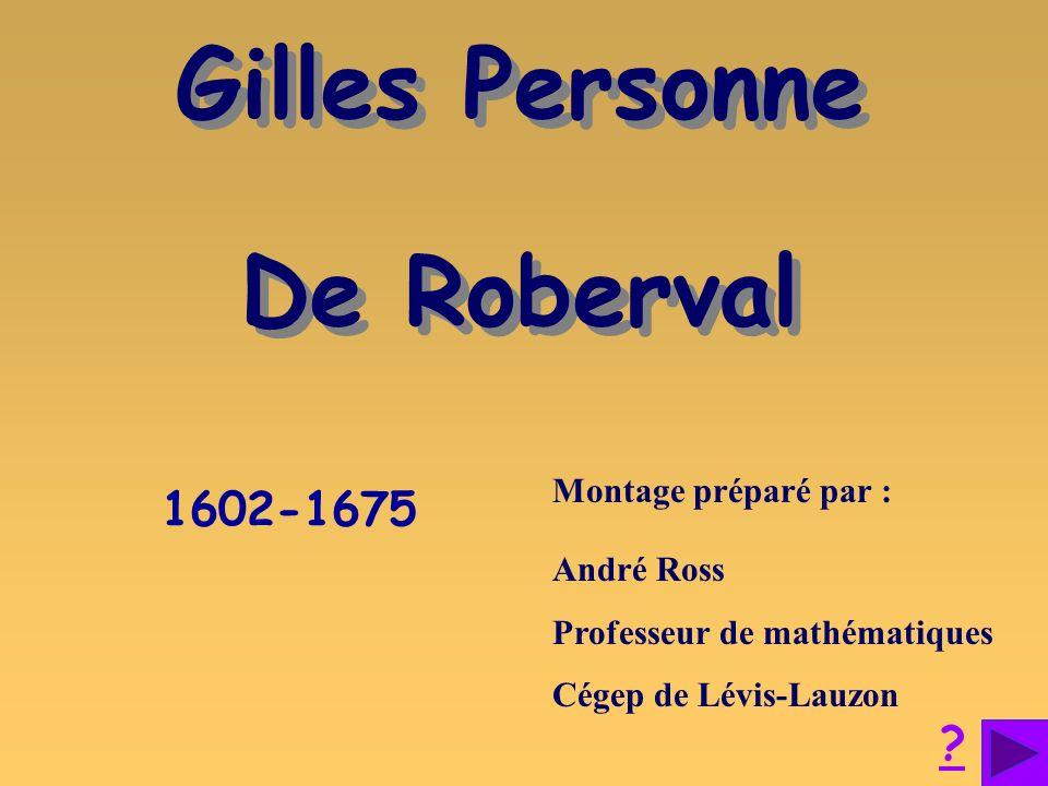 Gilles Personne De Roberval
