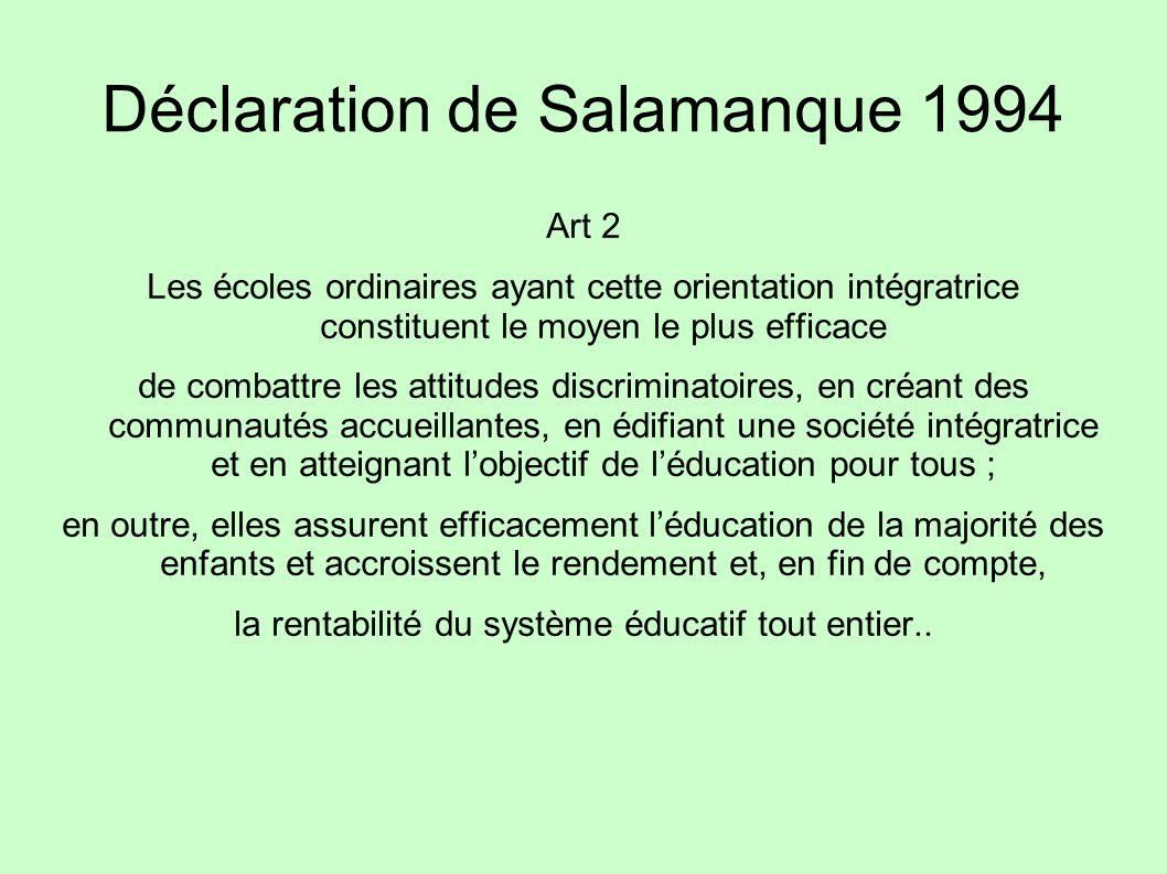 Déclaration de Salamanque 1994