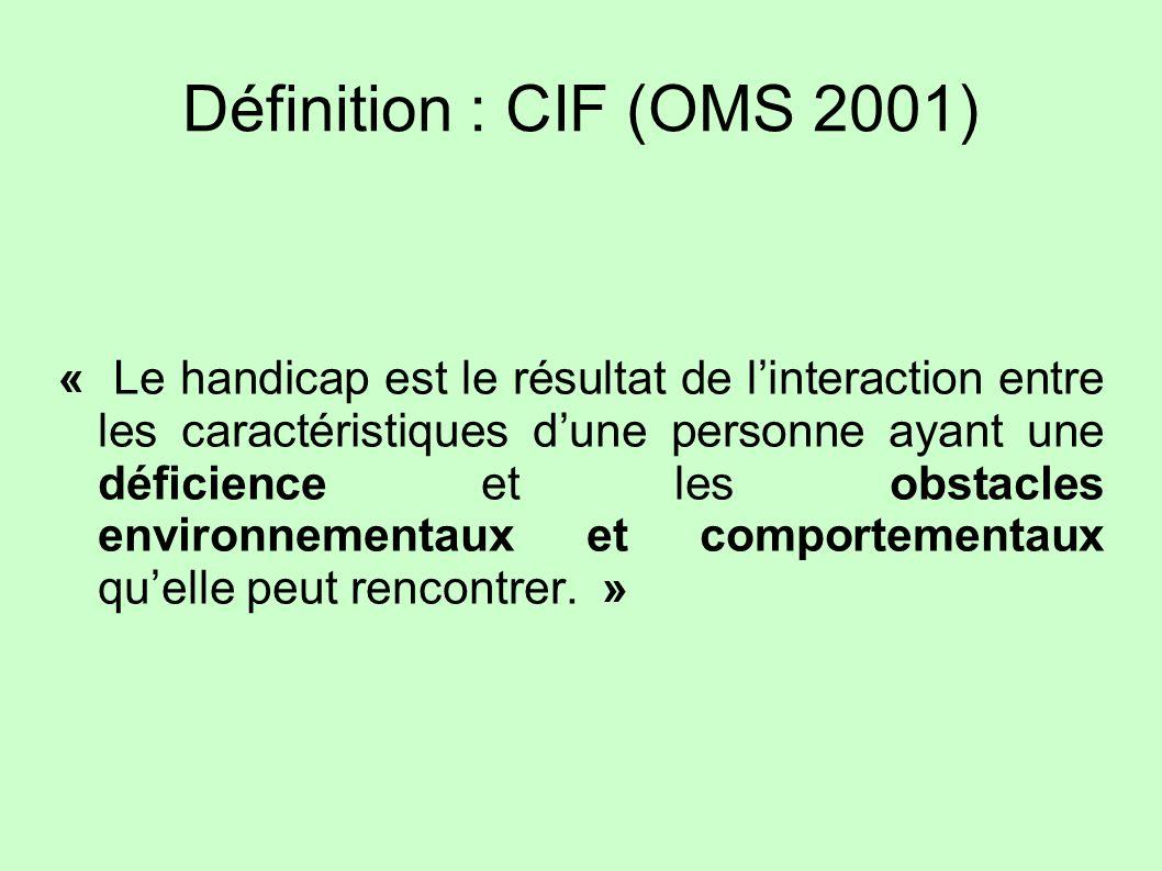 Définition : CIF (OMS 2001)