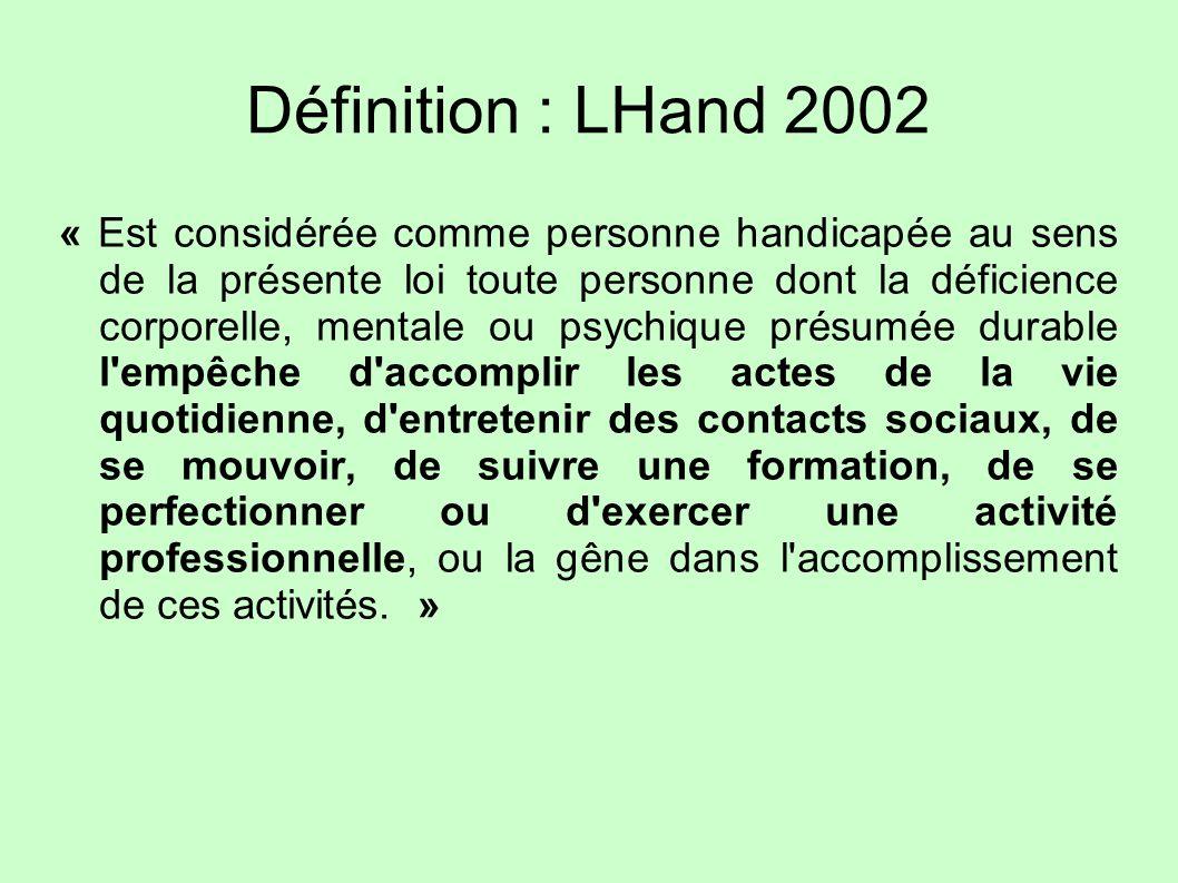 Définition : LHand 2002