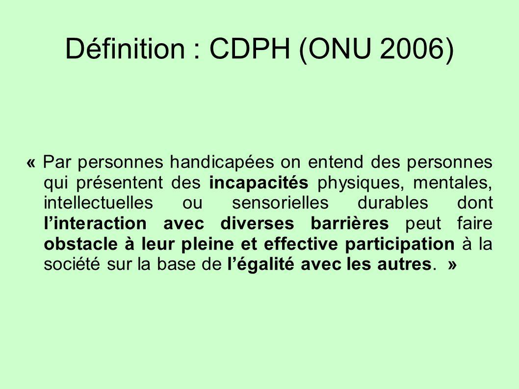 Définition : CDPH (ONU 2006)