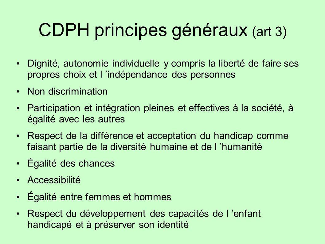 CDPH principes généraux (art 3)